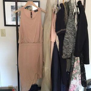 Astr asymmetrical blush pink dress size M